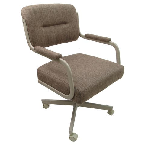 Swivel Tilt Upholstered Kitchen Chair With Caster Wheels