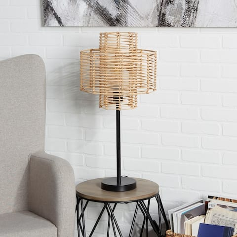 Cyndi Rattan Table Lamp