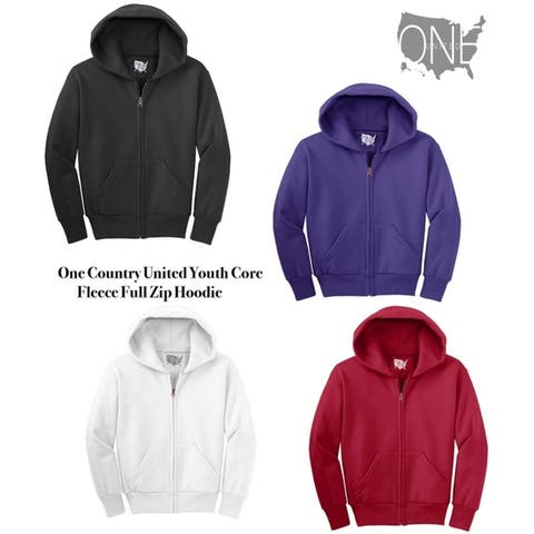 One Country United Youth Core Fleece Full-Zip Hoodie