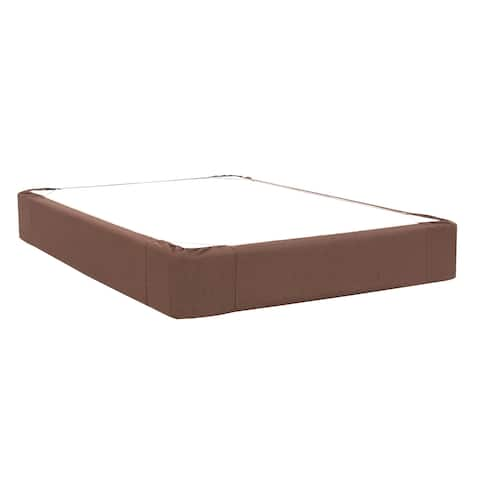 Sterling Chocolate Full Boxspring Cover