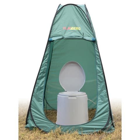 Portable Travel Toilet For Camping and Hiking with Toilet/Dressing Pop Up Tent