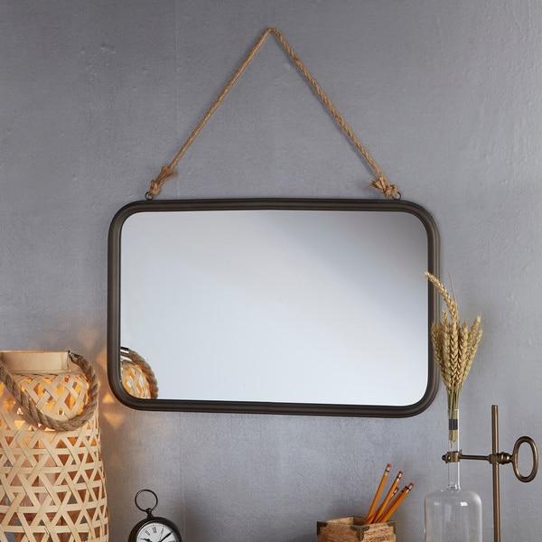 Carbon Loft Akito Mirror with Rope - Black
