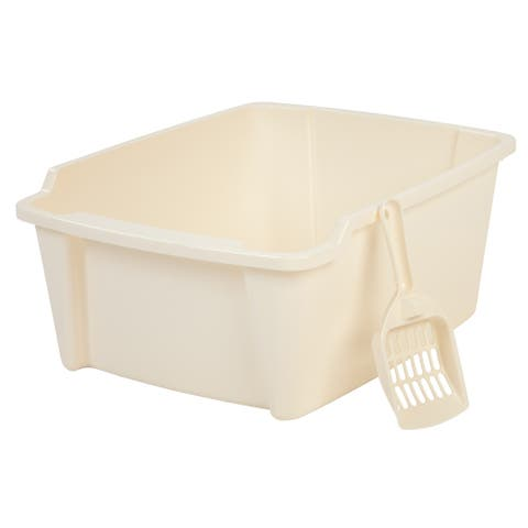 High Sided Open Litter Pan with Scoop