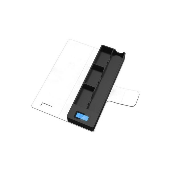 JUUL Compatible Charging Case with 3 pods and LCD indicator 1200 mAh  Compatible Portable Wireless - White