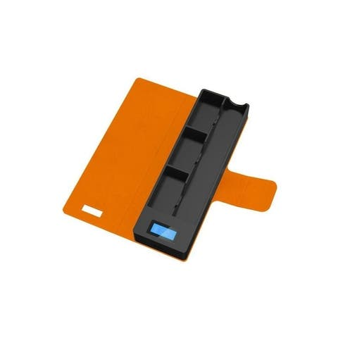 JUUL Compatible Charging Case with 3 pods and LCD indicator 1200 mAh Compatible Portable Wireless - Orange