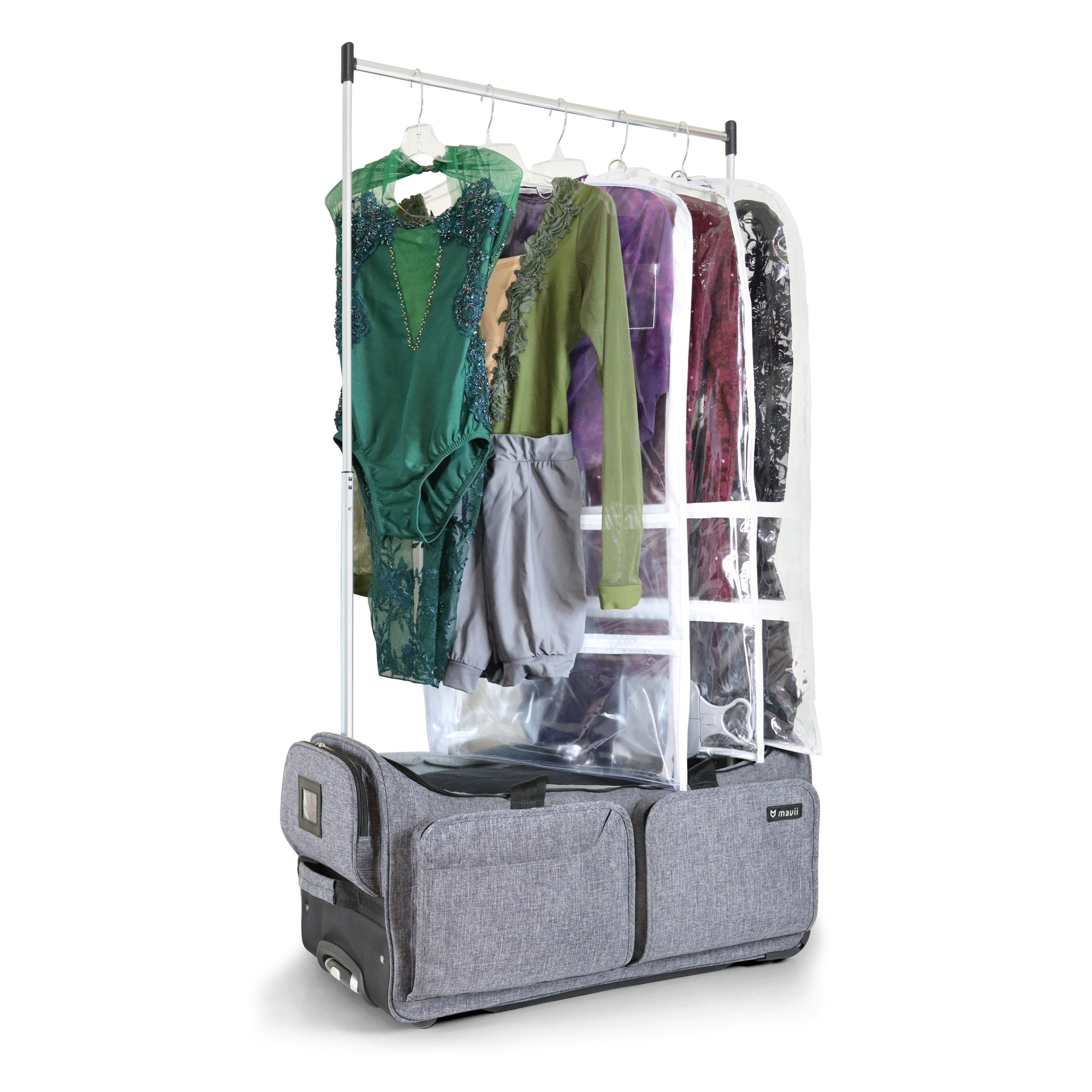 Duffel Bag With Garment Rack And Multi Compartment /& 28 Inch Wheeled For Travel