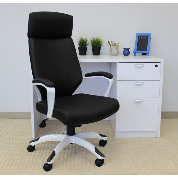 Boss Black and White Gaming Chair