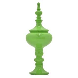 "32 "" Finial Tabletop in Green - 12 x 12 x 32"