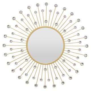 "23.5 "" Wall Mirror Jeweled in Gold - 23.5 x 0.75 x 23.5"
