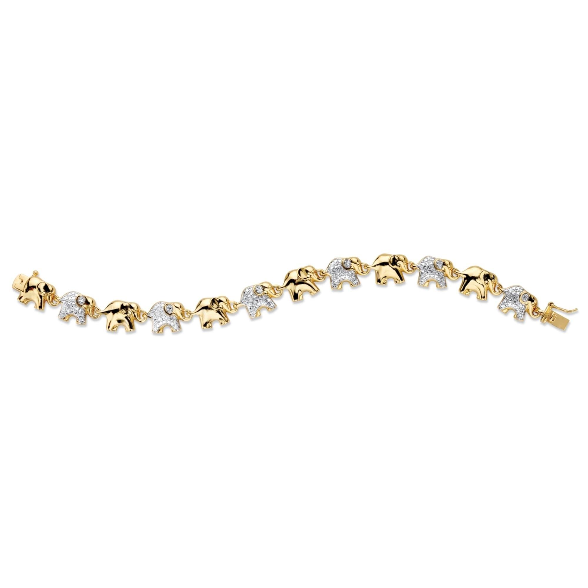 Yellow Gold Plated Elephant Bracelet