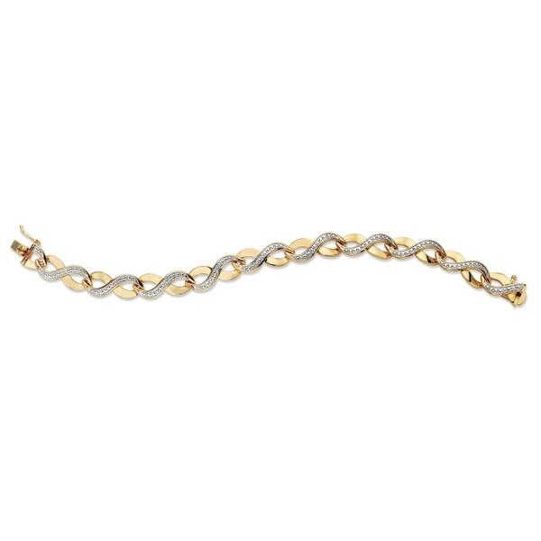 Shop Yellow Gold-Plated Infinity Link Bracelet (8 5mm), Diamond