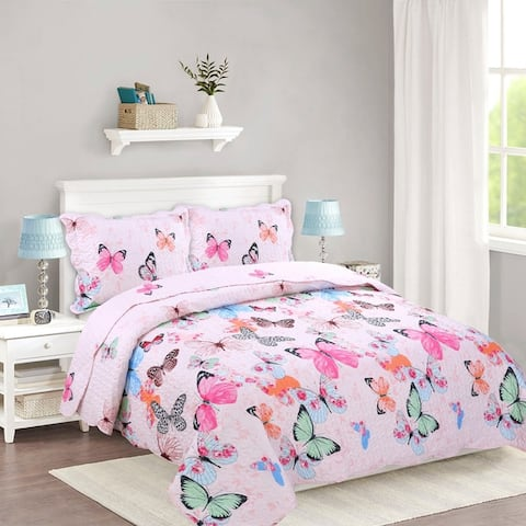 Porch & Den Dylan Butterfly Kids Quilt Set