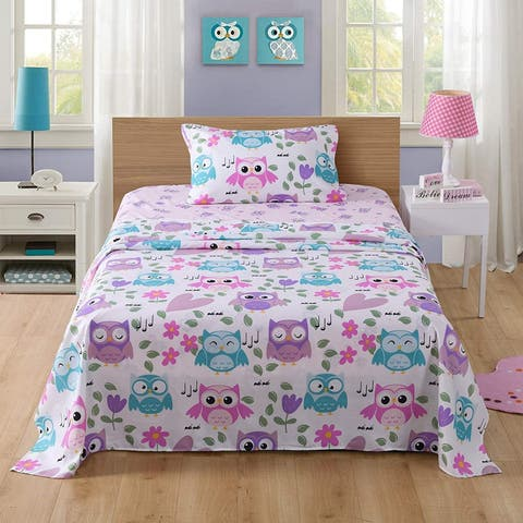Porch & Den Lodi Owl Bed Sheets