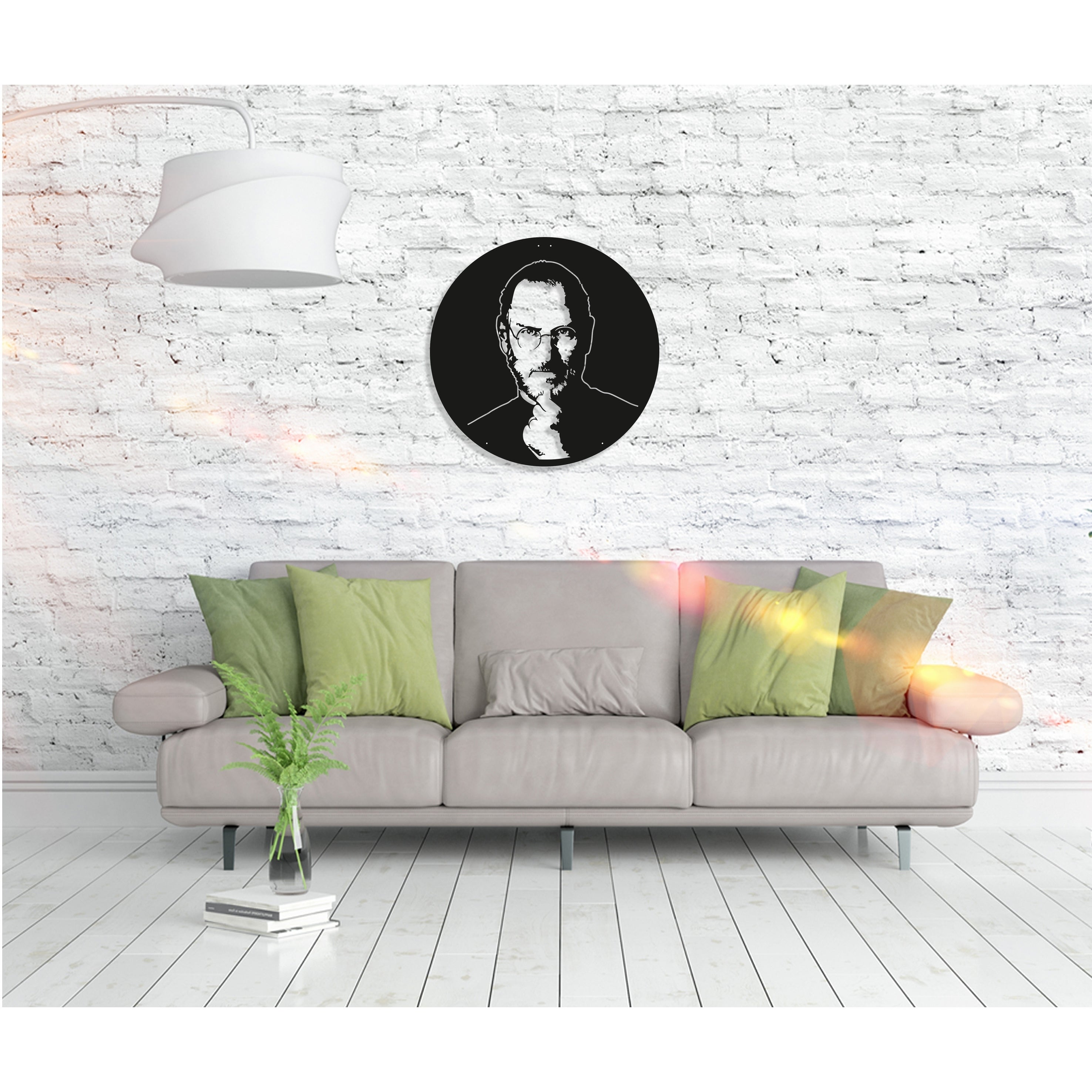 Shop Steve Jobs Metal Word Wall Art Home Decor Decorative Hanging Sign Ornament For Bedroom Living Room Dining Room Walls Black On Sale Overstock 27814579