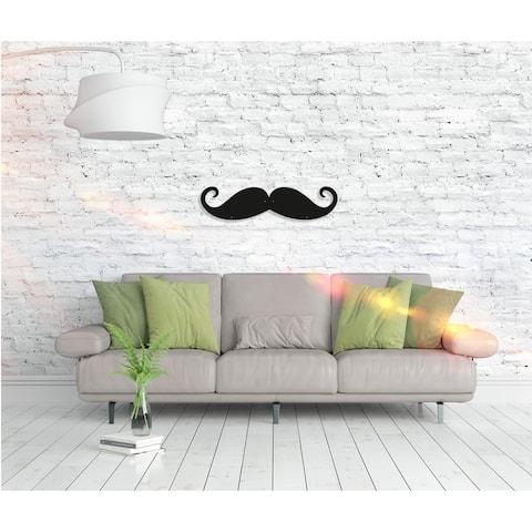 Mustache - Metal Wall Art Home Décor Decorative Hanging Sign Ornament for Bedroom, Living Room, Dining Room Walls Black