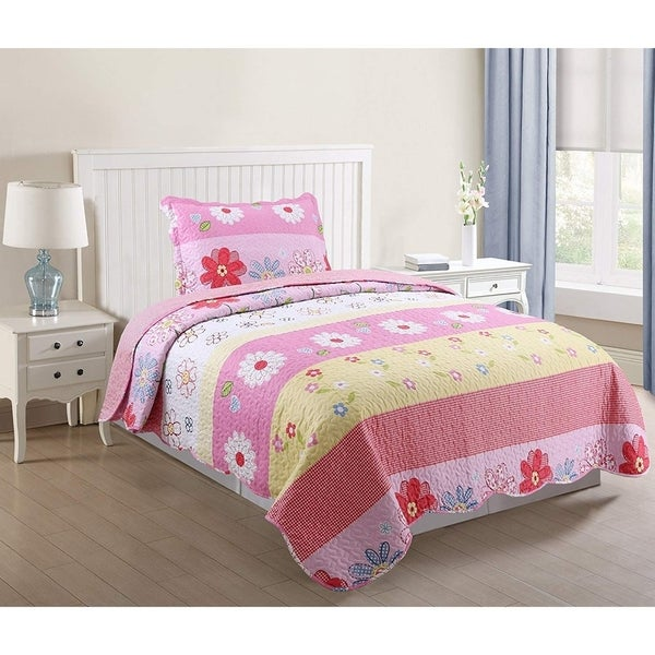 Marcielo Kids Bedspread Quilts Set Throw Blanket For S Boys Bed Printed Bedding Coverlet Pink