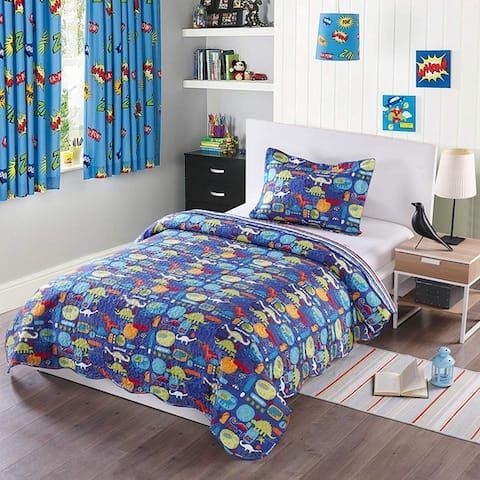 Porch & Den Duvall Dinosaur Kids Quilt Set