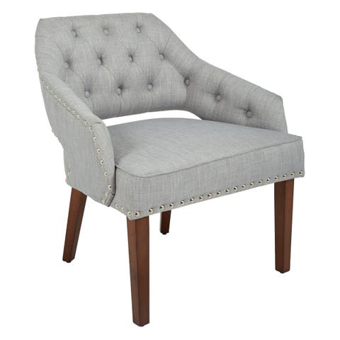 OSP Home Furnishings Milford Chair with Coffee Finish Legs