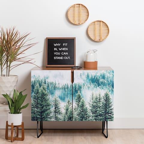 Deny Designs Forest Fog Credenza (Birch or Walnut, 2 Leg Options)