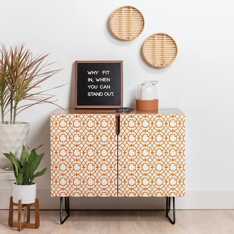 Deny Designs Burnt Orange Umbria Credenza (Birch or Walnut, 2 Leg Options)