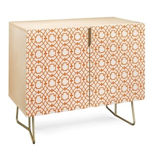 Deny Designs  Burnt Orange Umbria Credenza (Birch or Walnut, 2 Leg Options) (Gold Legs - Wood Finish - Birch/Wood)