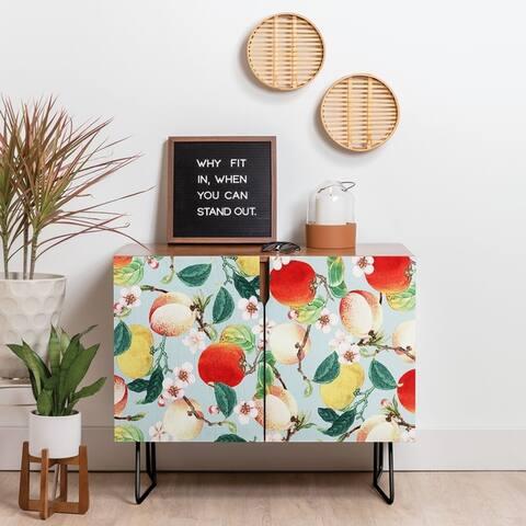 Deny Designs Fruity Summer Credenza (Birch or Walnut, 2 Leg Options)