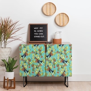 Deny Designs Bird Haven Credenza (Birch or Walnut, 2 Leg Options)