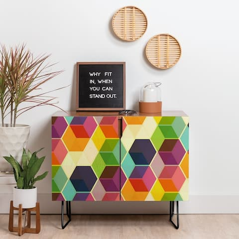 Carson Carrington Hjaelmared Retro Hexagonzo Credenza