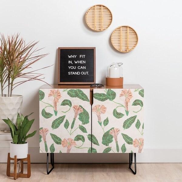 Deny Designs Desert Moonflower Credenza (Birch or Walnut, 2 Leg Options)