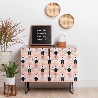 Deny Designs Blush Deco Credenza (Birch or Walnut, 2 Leg Options)