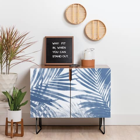 Deny Designs Serenity Palms Credenza (Birch or Walnut, 2 Leg Options)