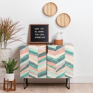 Link to Deny Designs Retro Holistic Credenza (Birch or Walnut, 2 Leg Options) Similar Items in Dining Room & Bar Furniture