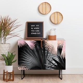 Deny Designs Midnight Palm Credenza (Birch or Walnut, 2 Leg Options)