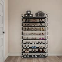 Lavish Home Shoe Rack - Tiered Space-saving Organization and Storage for Sneakers, Heels, Flats, Accessories