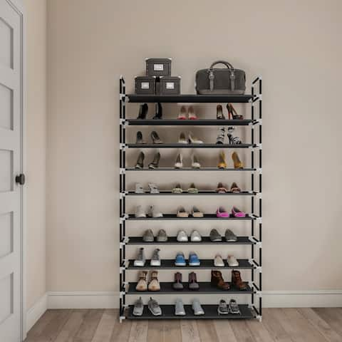 Shoe Rack- Tiered Storage for Sneakers, Heels, Flats, Accessories, and More-Space Saving Organization by Lavish Home