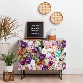 Deny Designs Floral Garden Credenza (Birch or Walnut, 2 Leg Options)