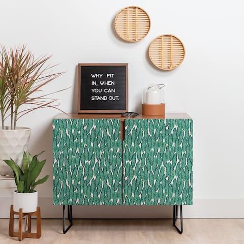 Deny Designs Tropical Serenity Credenza (Birch or Walnut, 2 Leg Options)