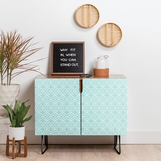 Link to Deny Designs Cool Mint Umbria Credenza (Birch or Walnut, 2 Leg Options) Similar Items in Dining Room & Bar Furniture
