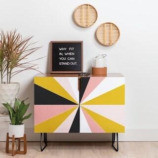 Deny Designs Pinwheel Credenza (Birch or Walnut, 2 Leg Options)
