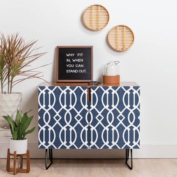 Deny Designs BlueTrellis Credenza (Birch or Walnut, 2 Leg Options)