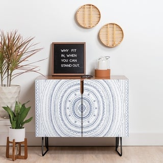 Deny Designs Mandala Credenza (Birch or Walnut, 2 Leg Options)
