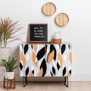 Link to Deny Designs Falling Orange Leaves Credenza (Birch or Walnut, 2 Leg Options) Similar Items in Dining Room & Bar Furniture