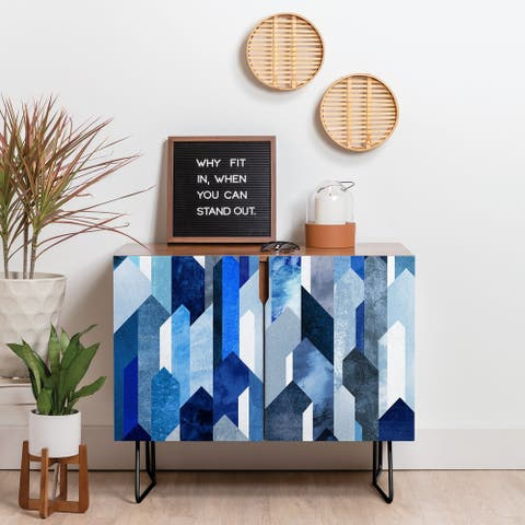 Carson Carrington Hjaelmared Modern/Contemporary Blue Credenza