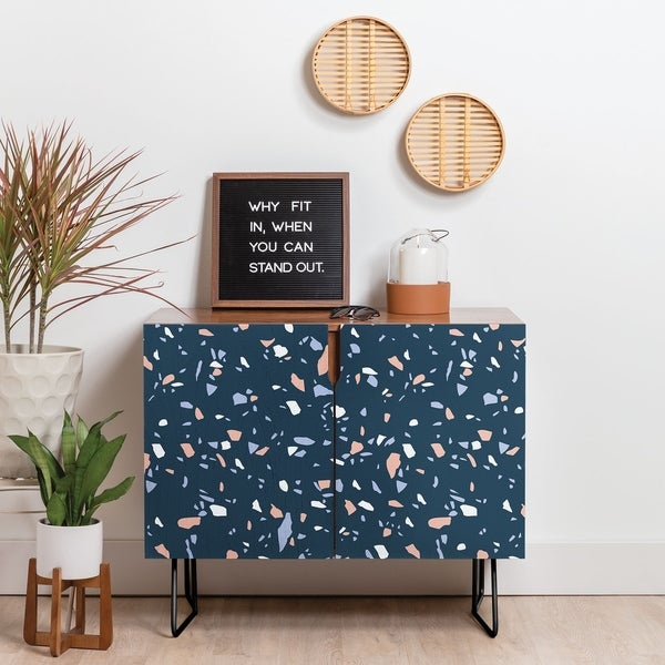 Shop Deny Designs So Blue Terrazzo Credenza (Birch or Walnut