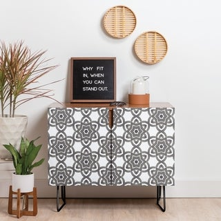 Deny Designs Ethnic Mood Credenza (Birch or Walnut, 2 Leg Options)