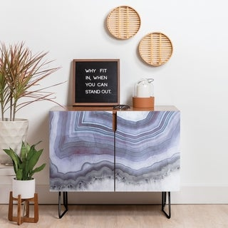 Deny Designs Winter Agate Credenza (Birch or Walnut, 2 Leg Options)