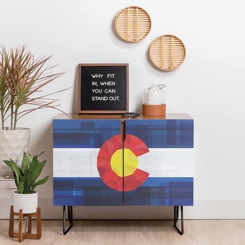 Deny Designs Colorado Credenza (Birch or Walnut, 2 Leg Options)