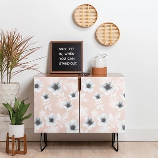Deny Designs Pale Garden Credenza (Birch or Walnut, 2 Leg Options)