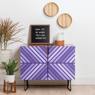 Deny Designs Violet Geometric Credenza (Birch or Walnut, 2 Leg Options)