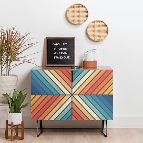 Deny Designs Celebration Angle Credenza (Birch or Walnut, 2 Leg Options)